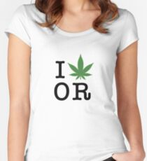 I [weed] Oregon Women's Fitted Scoop T-Shirt