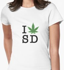 I [weed] San Diego Women's Fitted T-Shirt