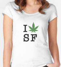 I [weed] San Francisco Women's Fitted Scoop T-Shirt
