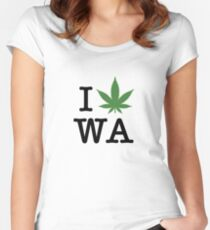 I [weed] Washington Women's Fitted Scoop T-Shirt