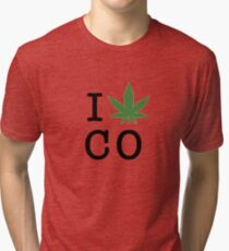 I [weed] Colorado Tri-blend T-Shirt