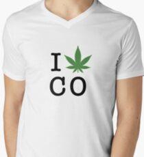I [weed] Colorado Men's V-Neck T-Shirt
