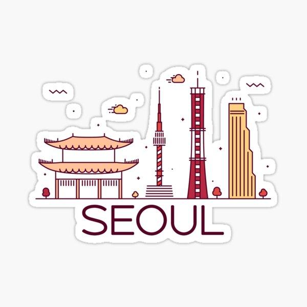 Seoul, South Korea Sticker