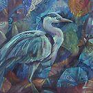 grey heron  by elisabetta trevisan