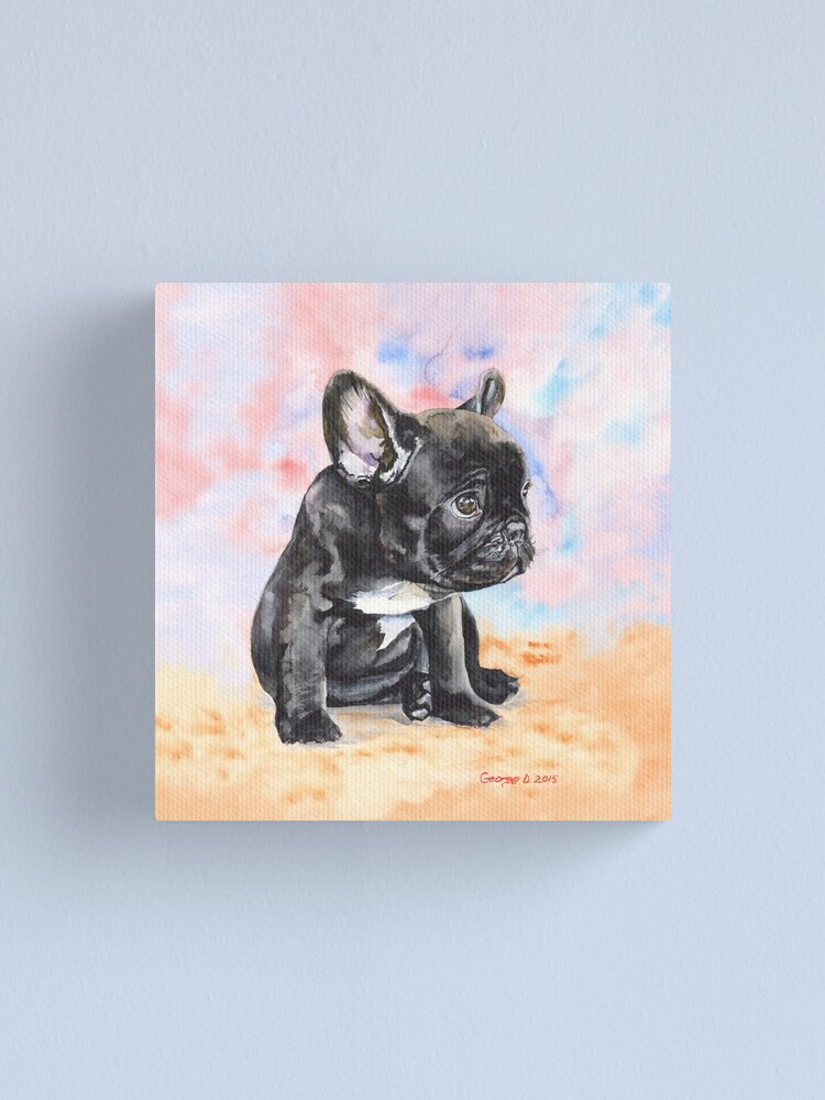 FRENCH BULLDOG PUPPY CANVAS PICTURE PRINT WALL ART HOME DECOR FREE DELIVERY