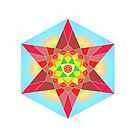Abstract Star Design with Native American Hope Symbol by camzhu