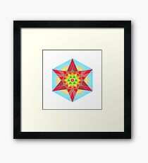 Abstract Star Design with Native American Hope Symbol Framed Print