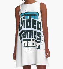 Video Games Matter A-Line Dress