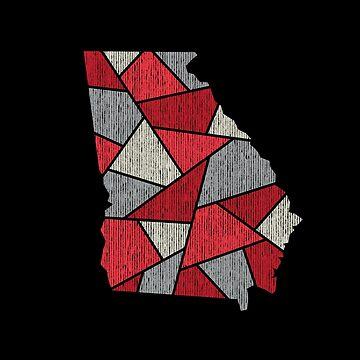 Georgia Mosaic - Red by DesignSyndicate