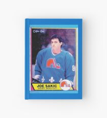 Quebec Nordiques Joe Sakic Hockey Card Vintage Hardcover Journal
