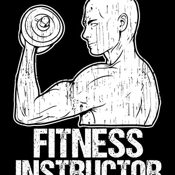 Man Training Fitness Instructor Silhouette White by LarkDesigns