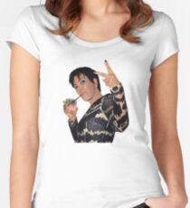 Camiseta entallada de cuello ancho KRIS JENNER