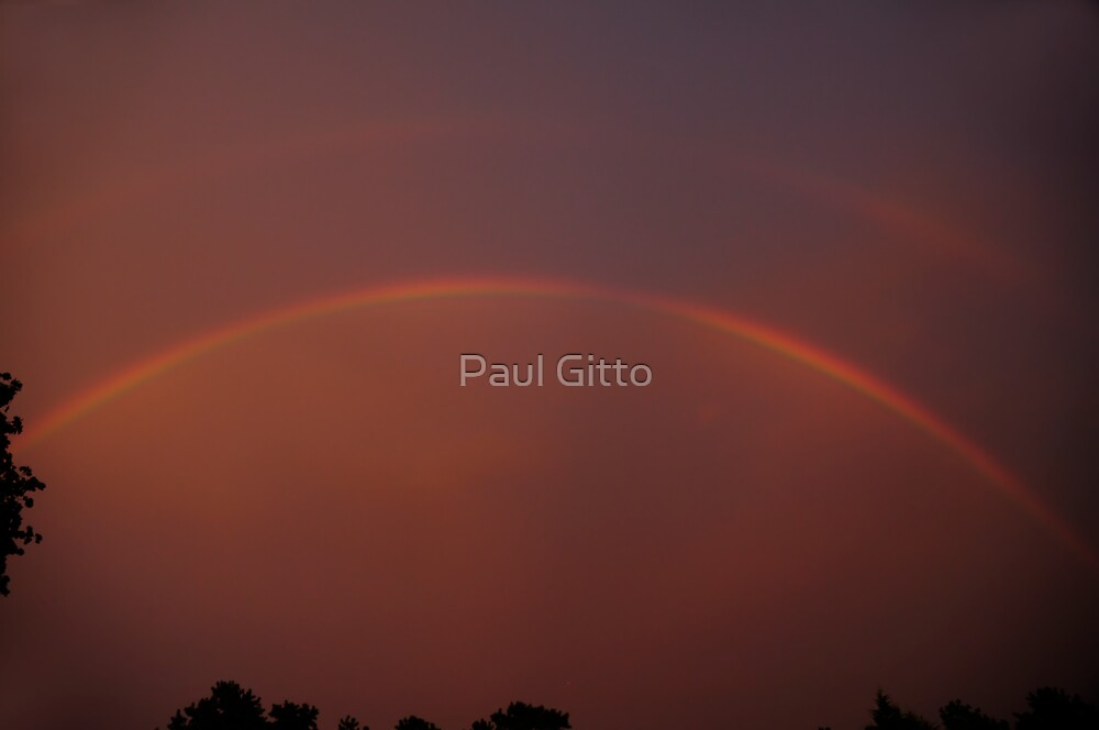 Storm's End - 3 Sunset Rainbow by Paul Gitto