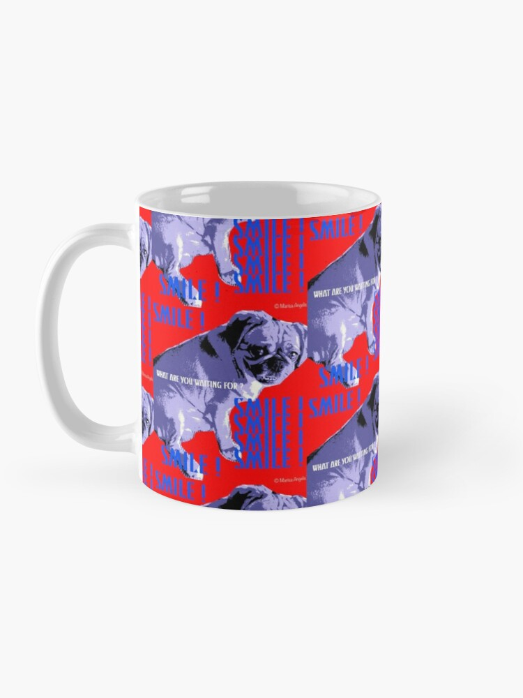 Alternate view of Smile - What Are You Waiting For? Pugalier Pug  Mug