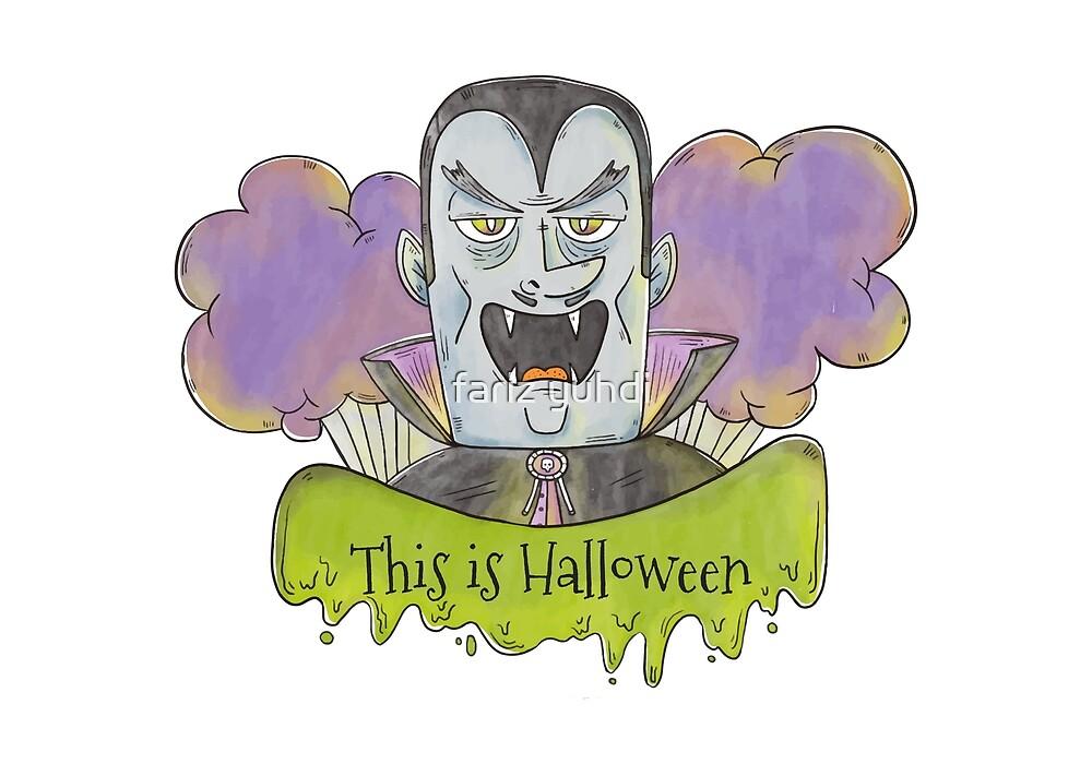 Evil Blue Dracula Character for Halloween by fariz yuhdi
