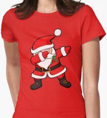 Dabbing Santa Claus Christmas Dab Women's Fitted T-Shirt