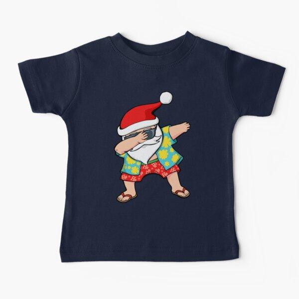 Hawaiian Dabbing Santa Baby T-Shirt
