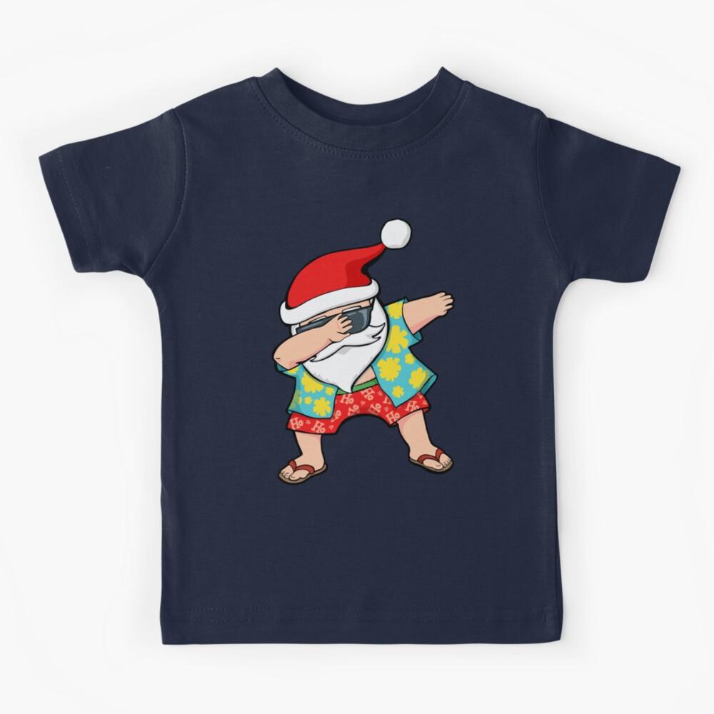Hawaiian Dabbing Santa Camiseta para niños