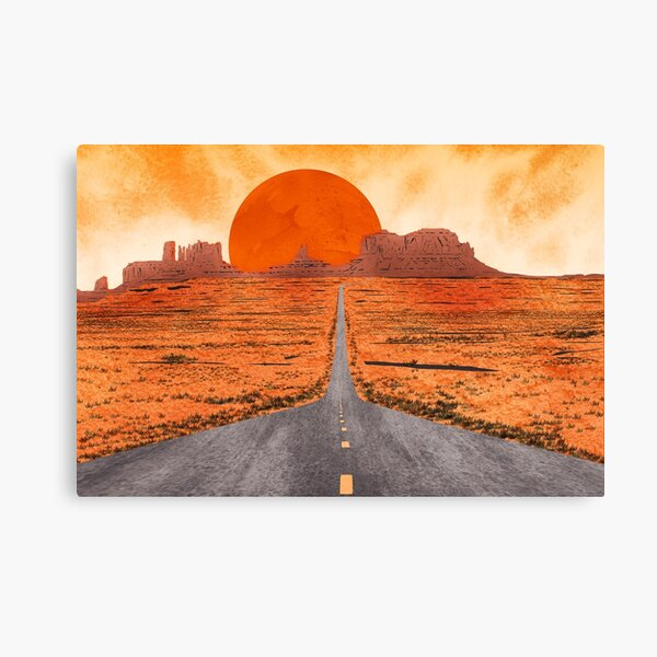 Monument Valley watercolor Canvas Print