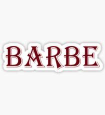 Barbe Sticker