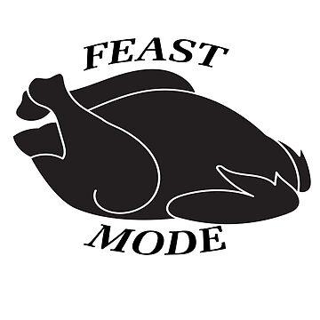 Thanksgiving Dinner Gift Feast Mode Turkey Shirt by arnaldog