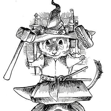 Gerbil Blacksmith Witch by pawlove