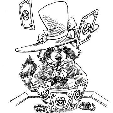 Raccoon Casino Witch by pawlove