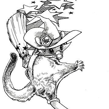 Superhero Glider Witch by pawlove