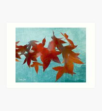 The red leaves Art Print