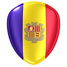 3d rendering of an Andorra flag icon. by erllre74