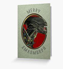 Merry Xmasmorph Greeting Card