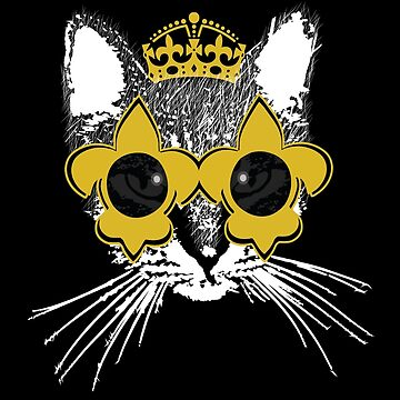 New Orleans Black and Gold Cat by StudioBlack