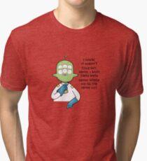 Tribore final space Tri-blend T-Shirt