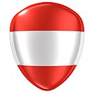3d rendering of an Austria flag icon. by erllre74