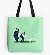 Swan cops Tote Bag
