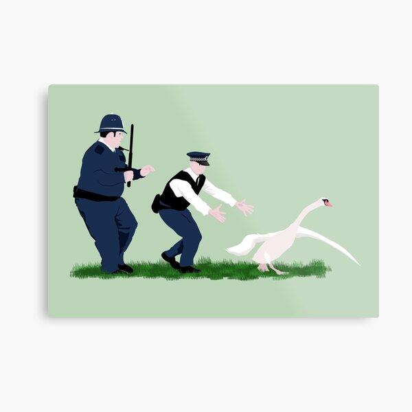 Swan cops Metal Print