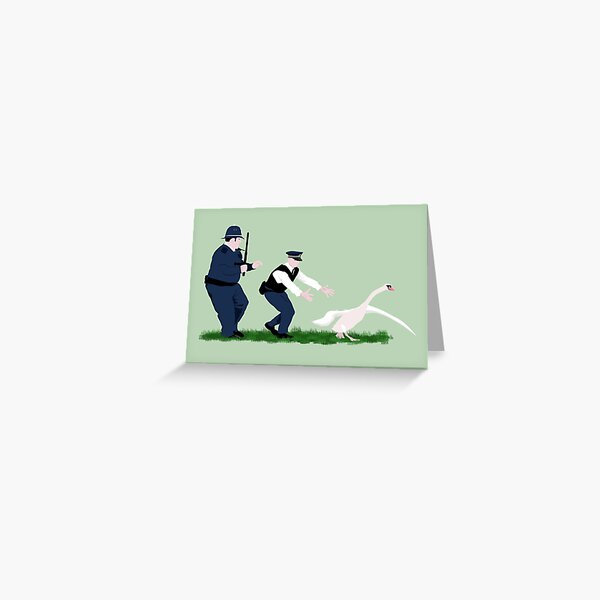 Swan cops Greeting Card