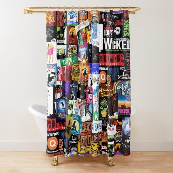 Musicals Collage II Shower Curtain