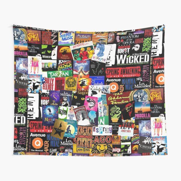 Musicals Collage II Tapestry