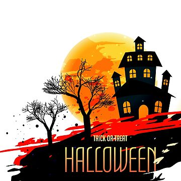 halloween festival background with house and trees by tato69