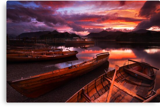 Sunset on Derwent Water, The Lake District by Robin Whalley