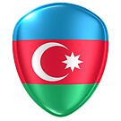 3d rendering of an Azerbaijan flag icon. by erllre74
