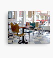 Fifties Diner Deco Canvas Print