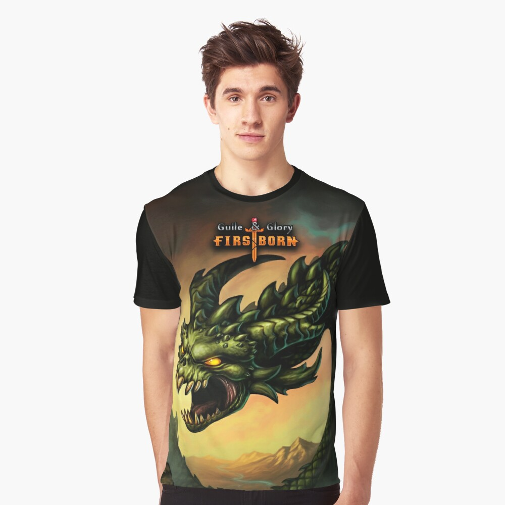 Guile & Glory: Firstborn - Wyrm (with title) Graphic T-Shirt