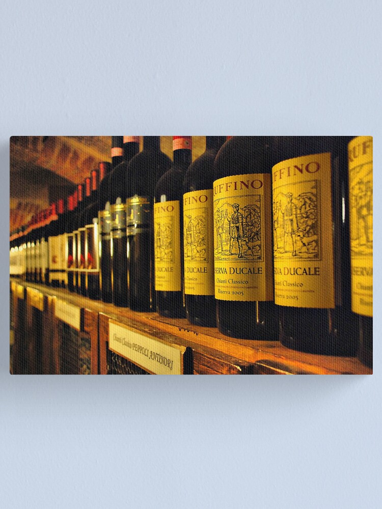 Alternate view of Endless world of Italian wines Canvas Print