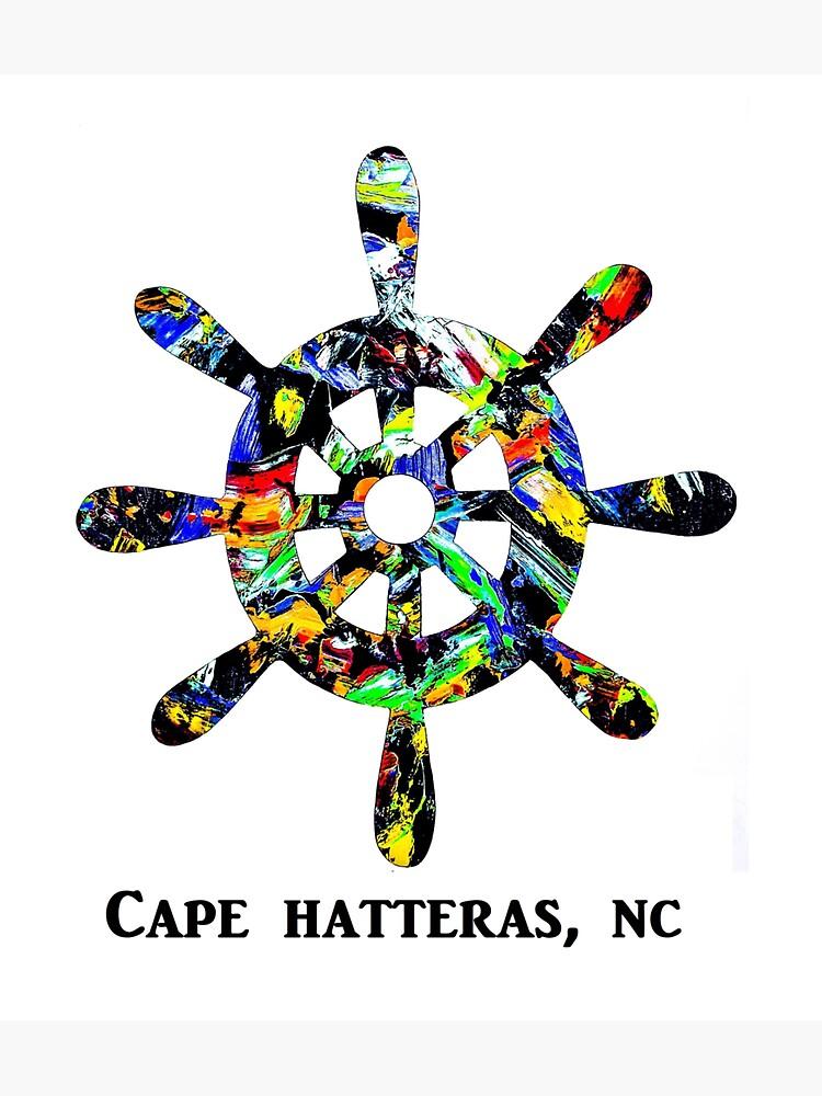 Ships Wheel Cape Hatteras by barryknauff