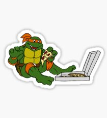 TMNT - Michelangelo with Pizza Sticker