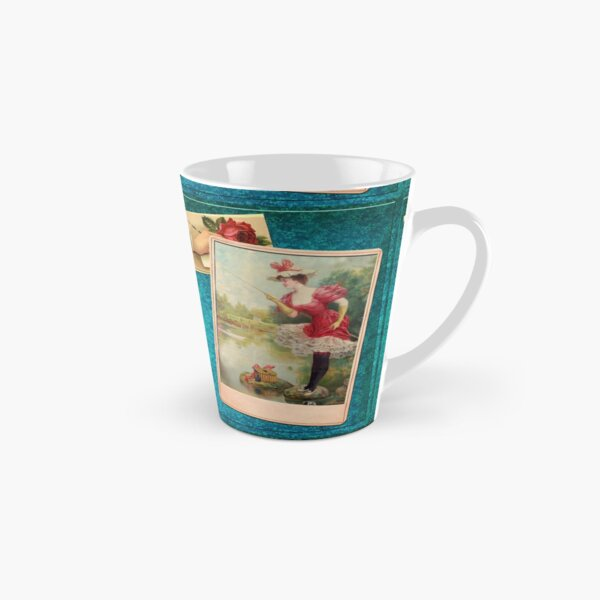 Victorian Fishing 2 In Brilliant Red Green And Blue Tall Mug