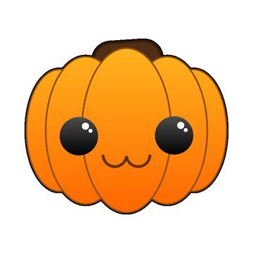 Kawaii Cute Pumpkin - Fall Halloween  by Stridden