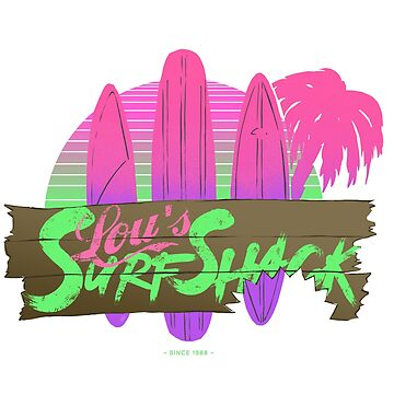 Lou's Surf Shack Neon by looeez